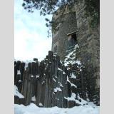 Stein-Art /Basaltsäulen von Burg Stolpen