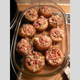 Essen /gefüllte Champignons ohne Käse