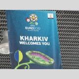 Mit Ball gespielt /Charkiw - Werbung für EURO 2012