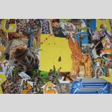 Kunst-Volles /Giraffen-Collage