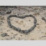Stein-Art /Herz aus Stein