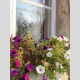 Fensterglas und Spiegelung /vielseitiges Fenster