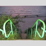 Auf- und Absteigen /Grüner Weg zum Strand