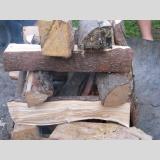 Holz /Aufegestapelt