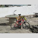 Fahrrad /Warten auf die Fahrer