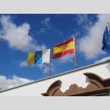 Fahnen der Welt /Kanarisch & Spanisch