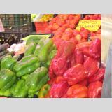 Gesundes Gemüsiges /Paprika auf dem Bauernmarkt